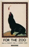 Vintage London underground poster - Sea Lion